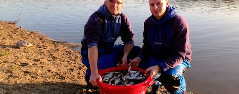 Pêche de gardons extraordinaire à Rillé (37)